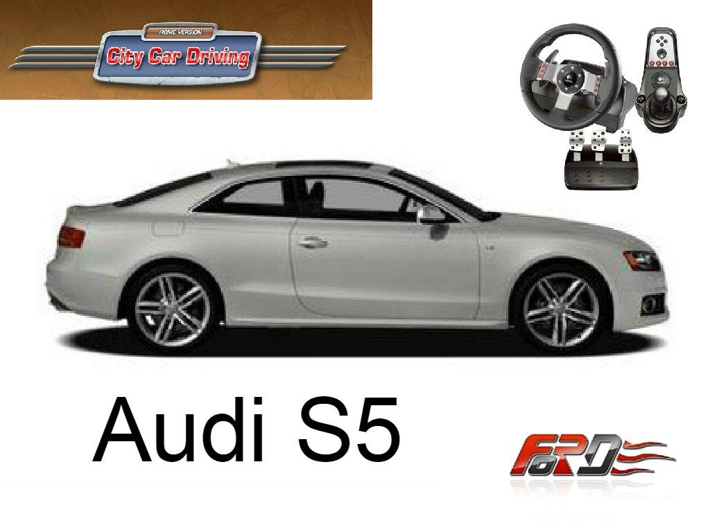 [ City Car Driving ] Audi S5 A5 тест-драйв, обзор автомобиля, спортивного купе Logitech G27  - Изображение 1