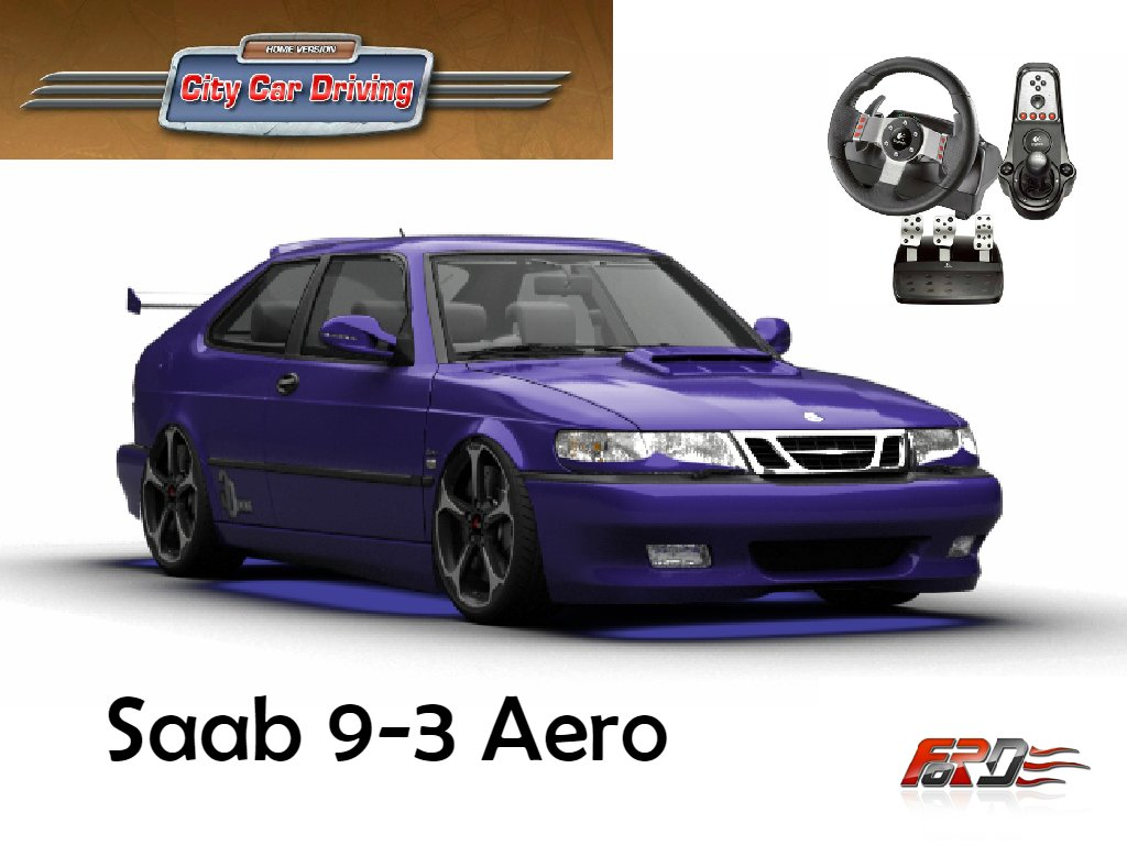 [ City Car Driving ] Saab 9-3 Aero тест-драйв, обзор, разгон, динамика, замеры RACELOGIC  - Изображение 1
