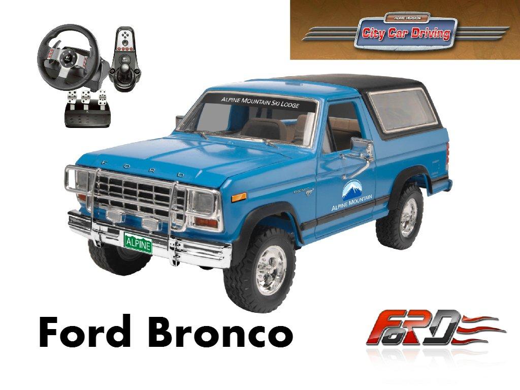 [ City Car Driving ] Ford Bronco тест-драйв, off-road, обзор американского внедорожника Logitech G27 - Изображение 1