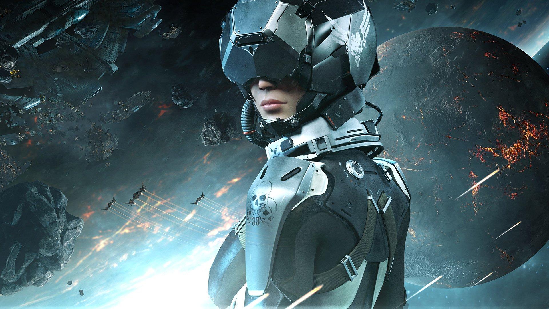 Арты (80+) по вселенной Eve, Dust 514, Valkyrie - Изображение 1