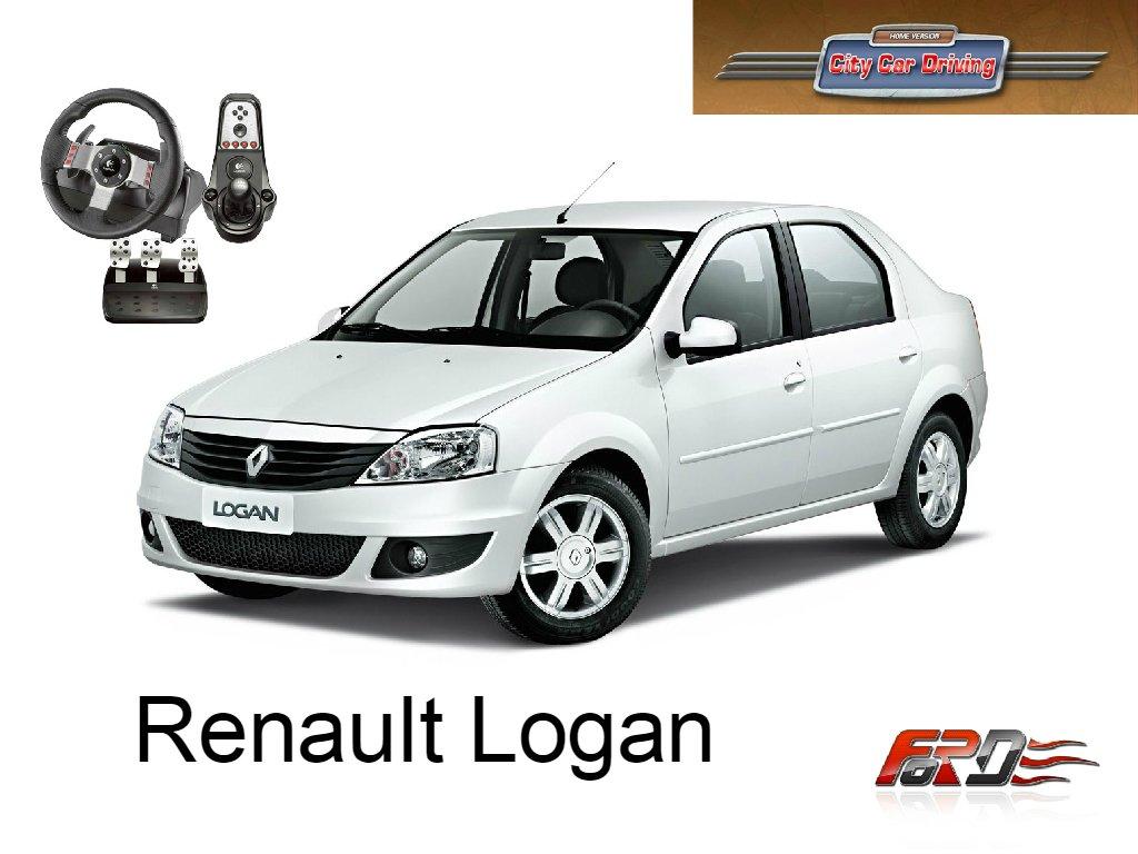 [ City Car Driving ] Renault Logan (Dacia Logan) тест-драйв, обзор недорогого народного автомобиля  - Изображение 1