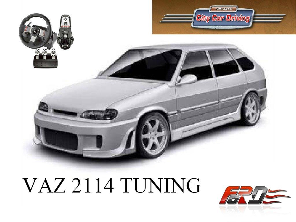 [ City Car Driving ] ВАЗ 2114 тюнинг (VAZ 2114 tuning) тест-драйв, обзор автомобиля, Racelogic  - Изображение 1