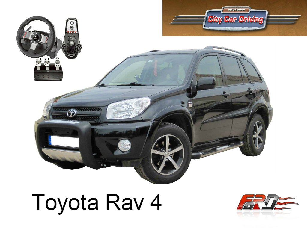 [ City Car Driving ] Toyota RAV4 тест-драйв, обзор автомобиля, городского паркетника Logitech G27  - Изображение 1
