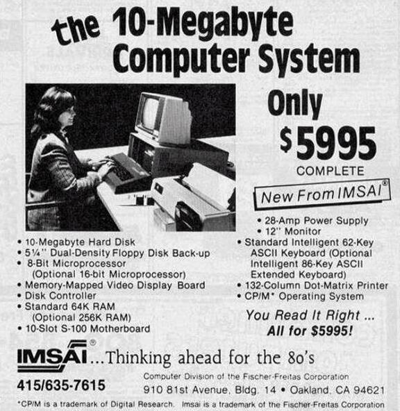 10MB Computer – only $5995, 1977.  - Изображение 1