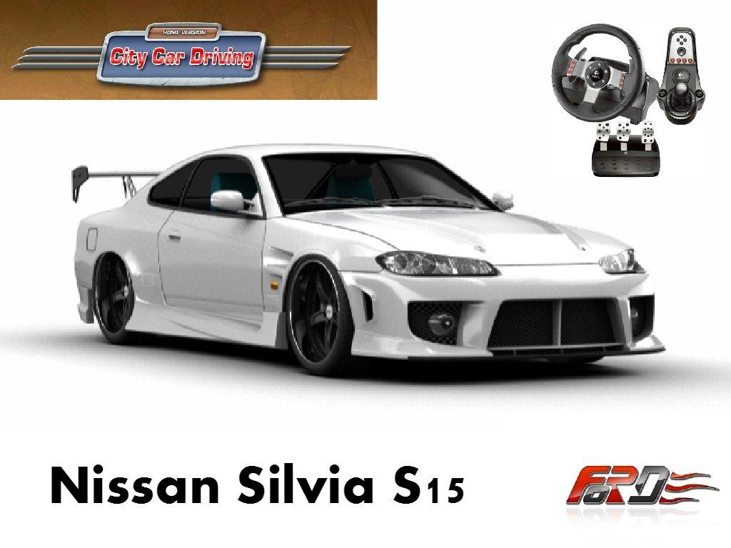 Nissan Silvia S15 тест-драйв, обзор, drift (дрифт) корч, замеры Racelogic [ City Car Driving ]  - Изображение 1