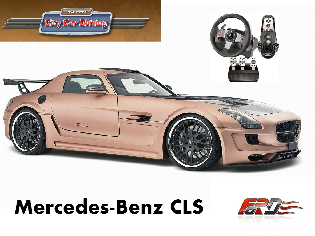 Mercedes Benz SLS AMG тест драйв, обзор легендарного и быстрого автомобиля City Car Driving  - Изображение 1
