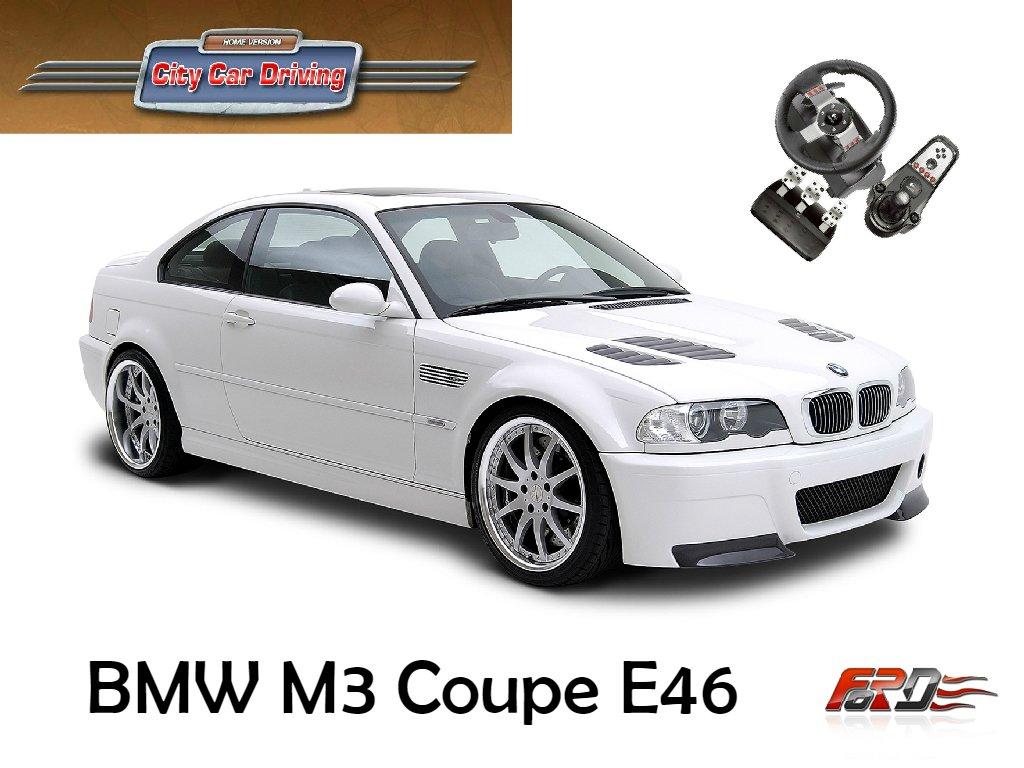 [ BMW M3 E46 ] тест-драйв, обзор, замеры динамики спортивного автомобиля City Car Driving  - Изображение 1