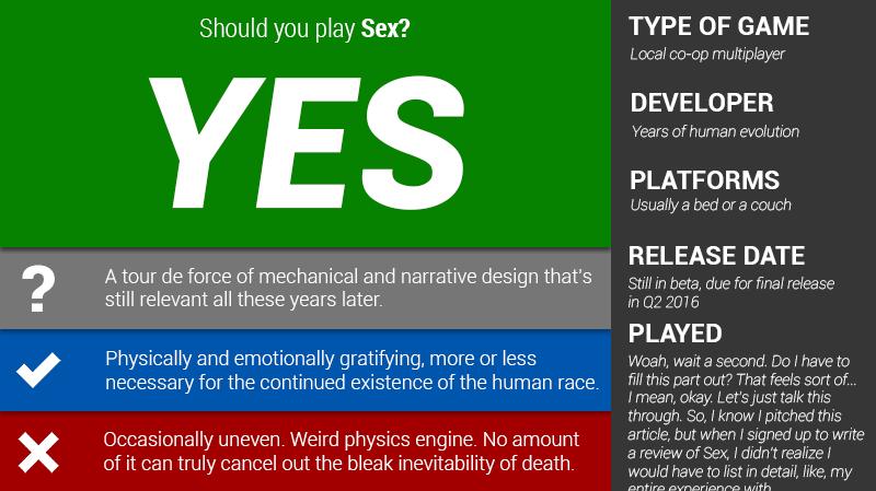 Kotaku рецензия на секс. - Изображение 1