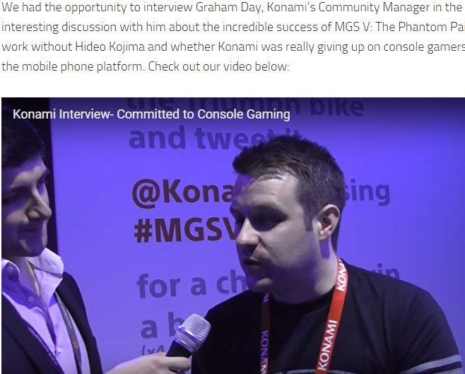 """Без комментариев...   Грей сказал:   """" Произошла дезинформация, Konami не полностью концентрируется на мобильных пл ... - Изображение 1"""