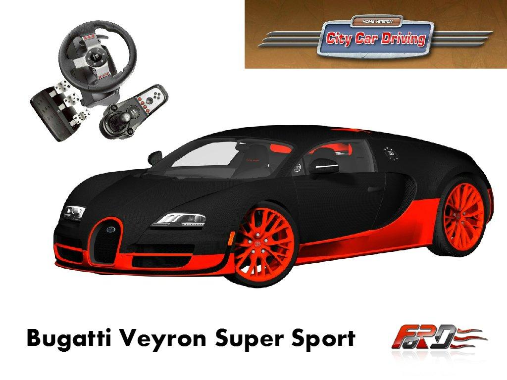 Bugatti Veyron Super Sport тест-драйв, обзор самого быстрого автомобиля в мире [ City Car Driving ]  - Изображение 1