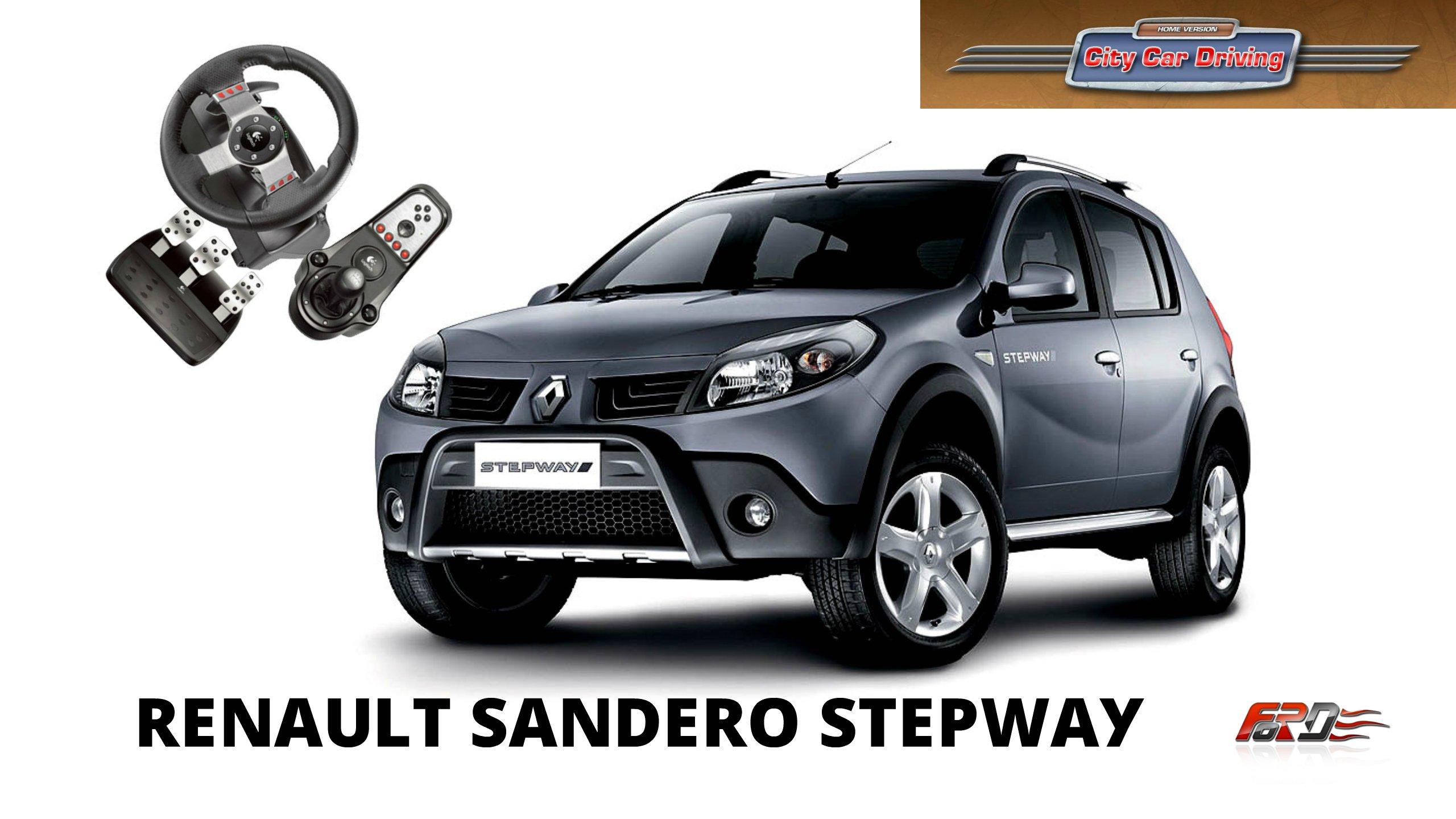 Renault Sandero Stepway - тест-драйв, обзор автомобиль для бедных в City Car Driving  - Изображение 1
