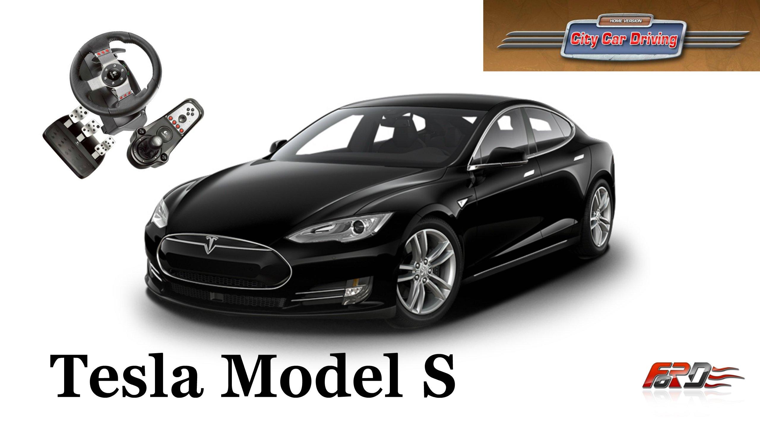 Tesla Model S - тест-драйв, обзор электромобиль будущего в City Car Driving  - Изображение 1