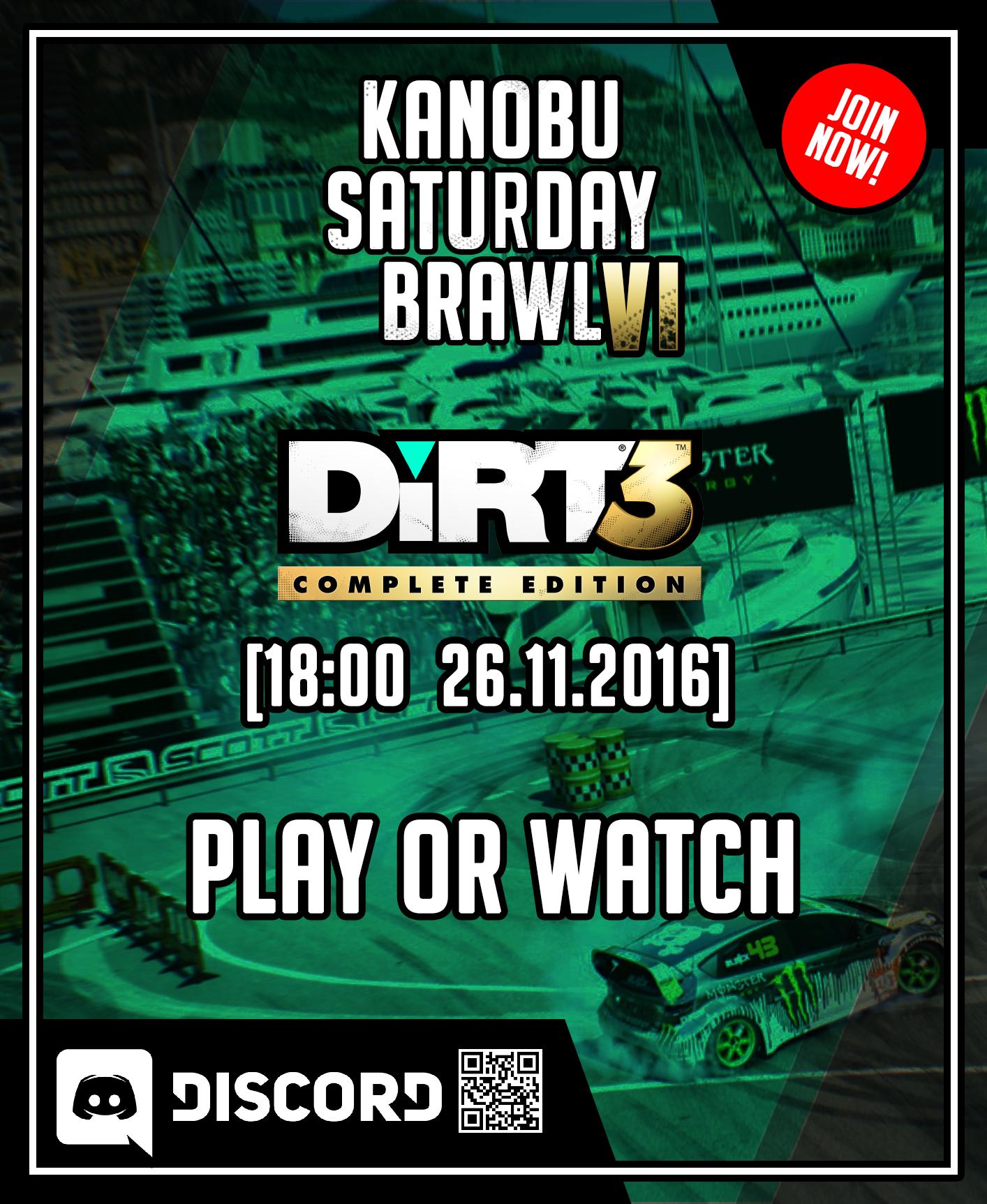 Kanobu saturday brawl 4: Dirt3 - Изображение 1