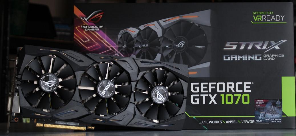 Asus Strix GTX 1070 O8G: Создана для 2К разрешения - Изображение 1