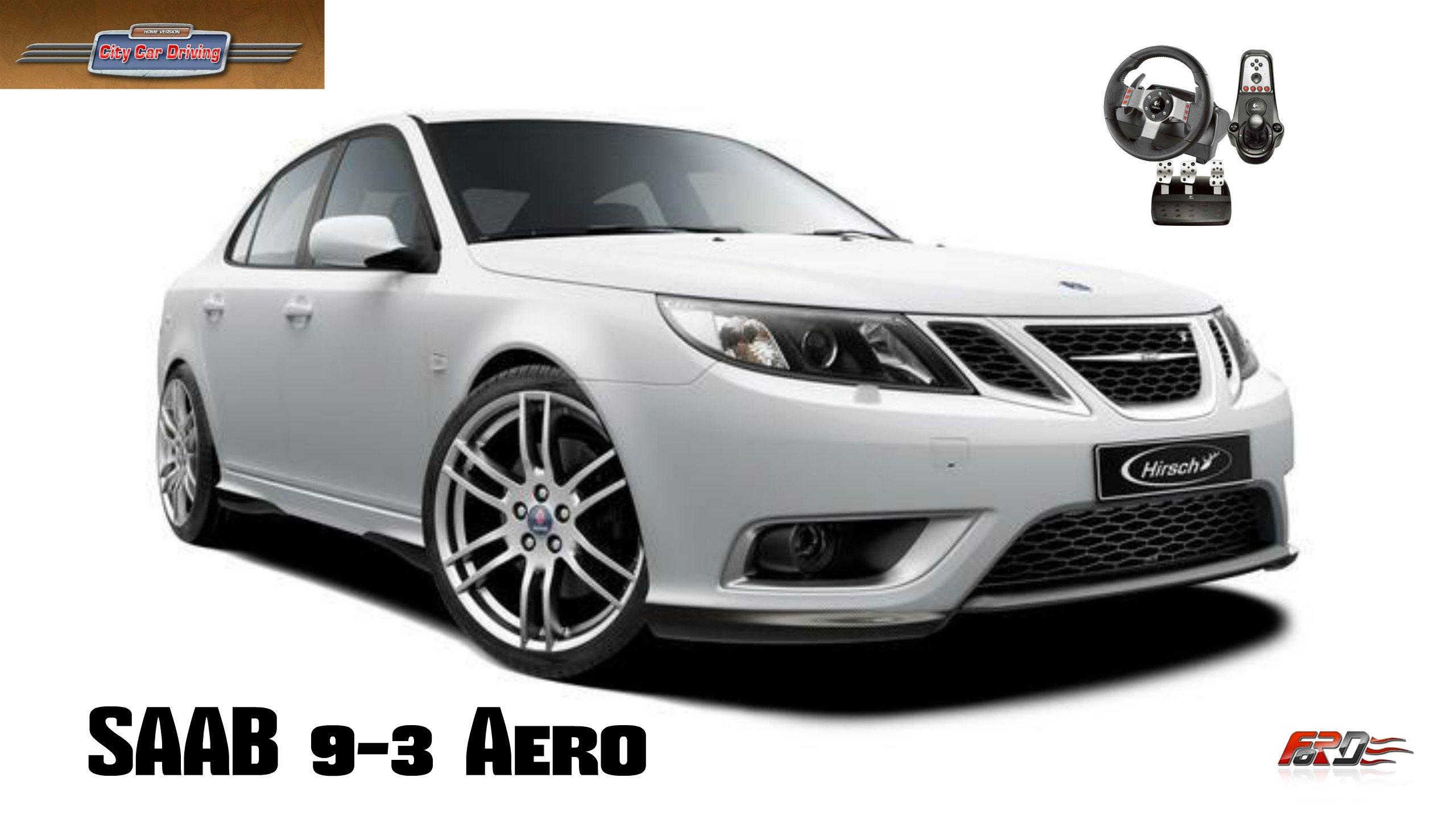 Saab 9-3 Aero тест-драйв, обзор скандинавского автомобиля в City Car Driving  - Изображение 1