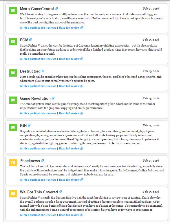 Оценки Street Fighter V, консольного экза PS4. - Изображение 4