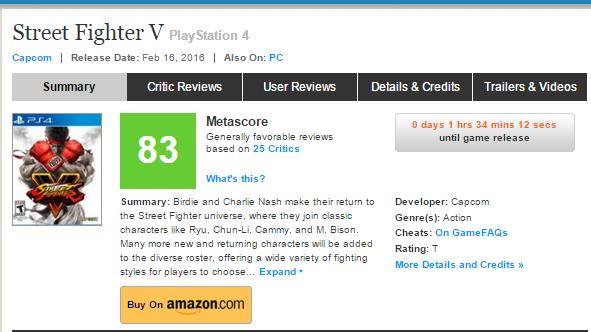 Оценки Street Fighter V, консольного экза PS4. - Изображение 1