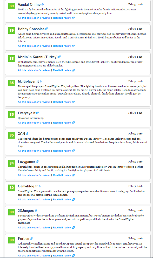 Оценки Street Fighter V, консольного экза PS4. - Изображение 3
