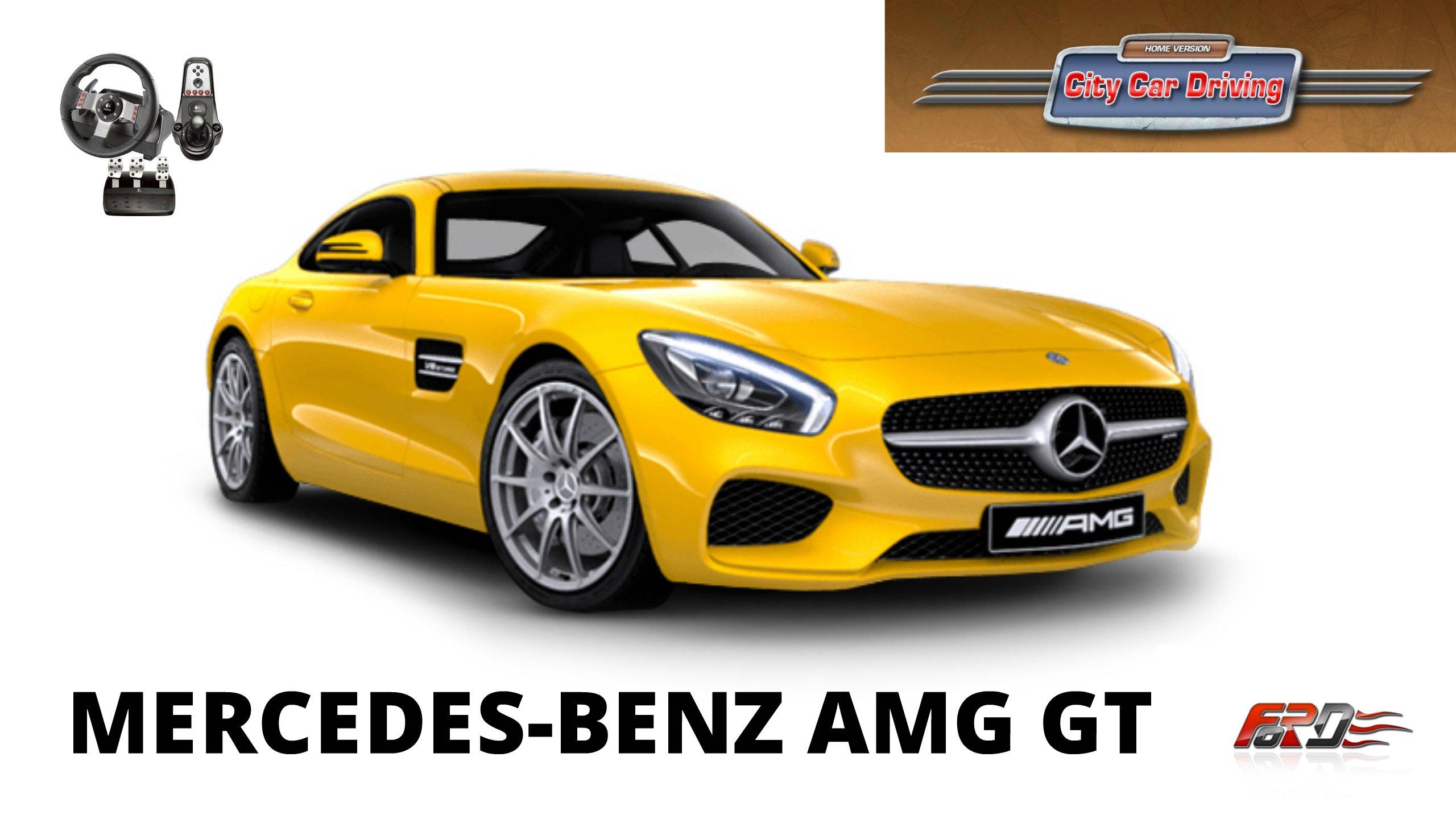 Mercedes-Benz AMG GT - тест-драйв, обзор приемника Mercedes-Benz AMG SLS в City Car Driving  - Изображение 1