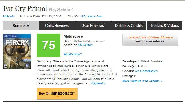 Оценки Far Cry Primal! - Изображение 1