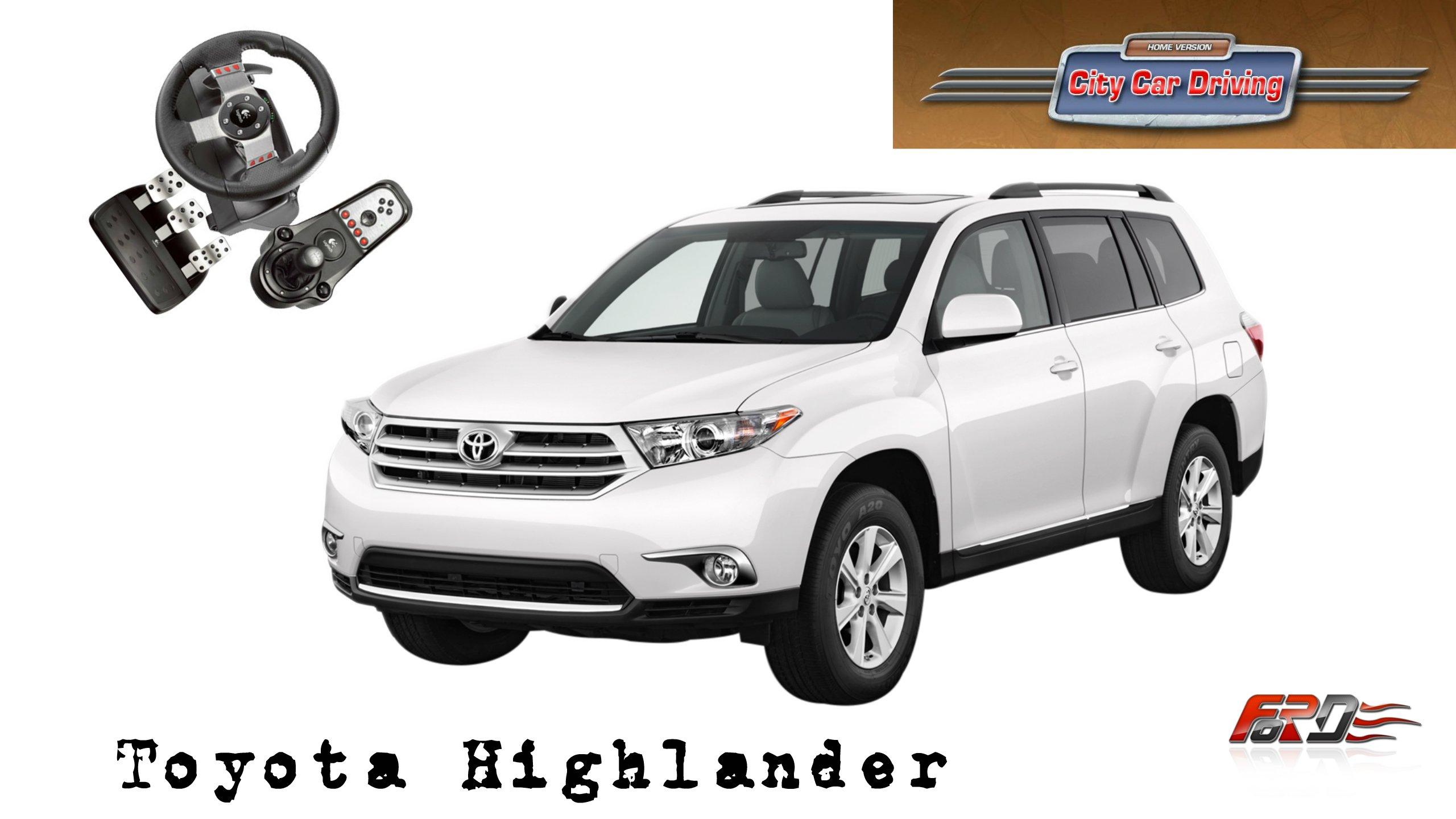 Toyota Highlander - тест-драйв, обзор, off-road внедорожника кроссовера в City Car Driving  - Изображение 1