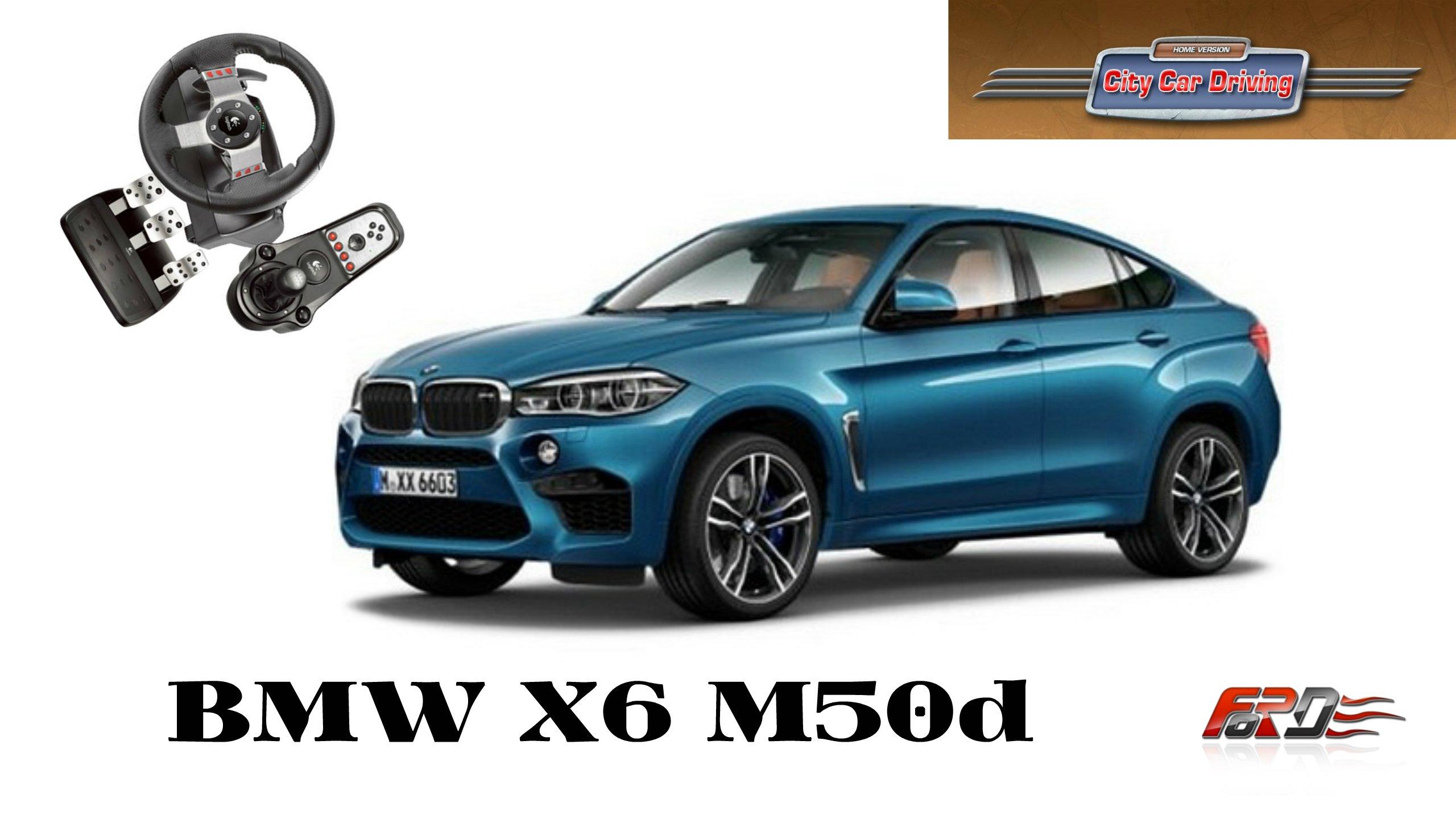 BMW X6M 50d тест-драйв, обзор спортивного дизельного кроссовера в City Car Driving  - Изображение 1