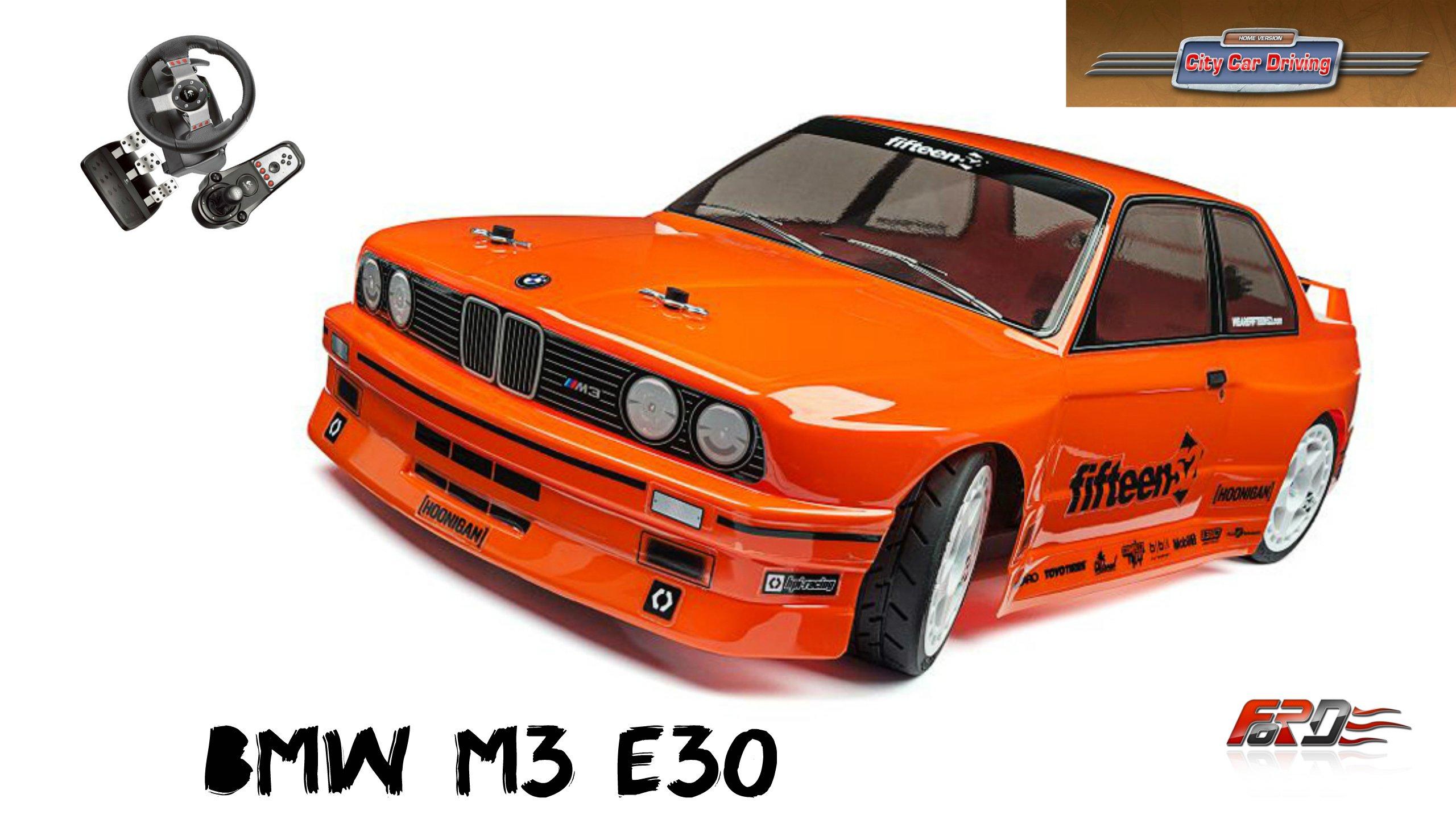BMW M3 E30 - тест-драйв, обзор, дрифт (drift) зимой по городу в City Car Driving  - Изображение 1