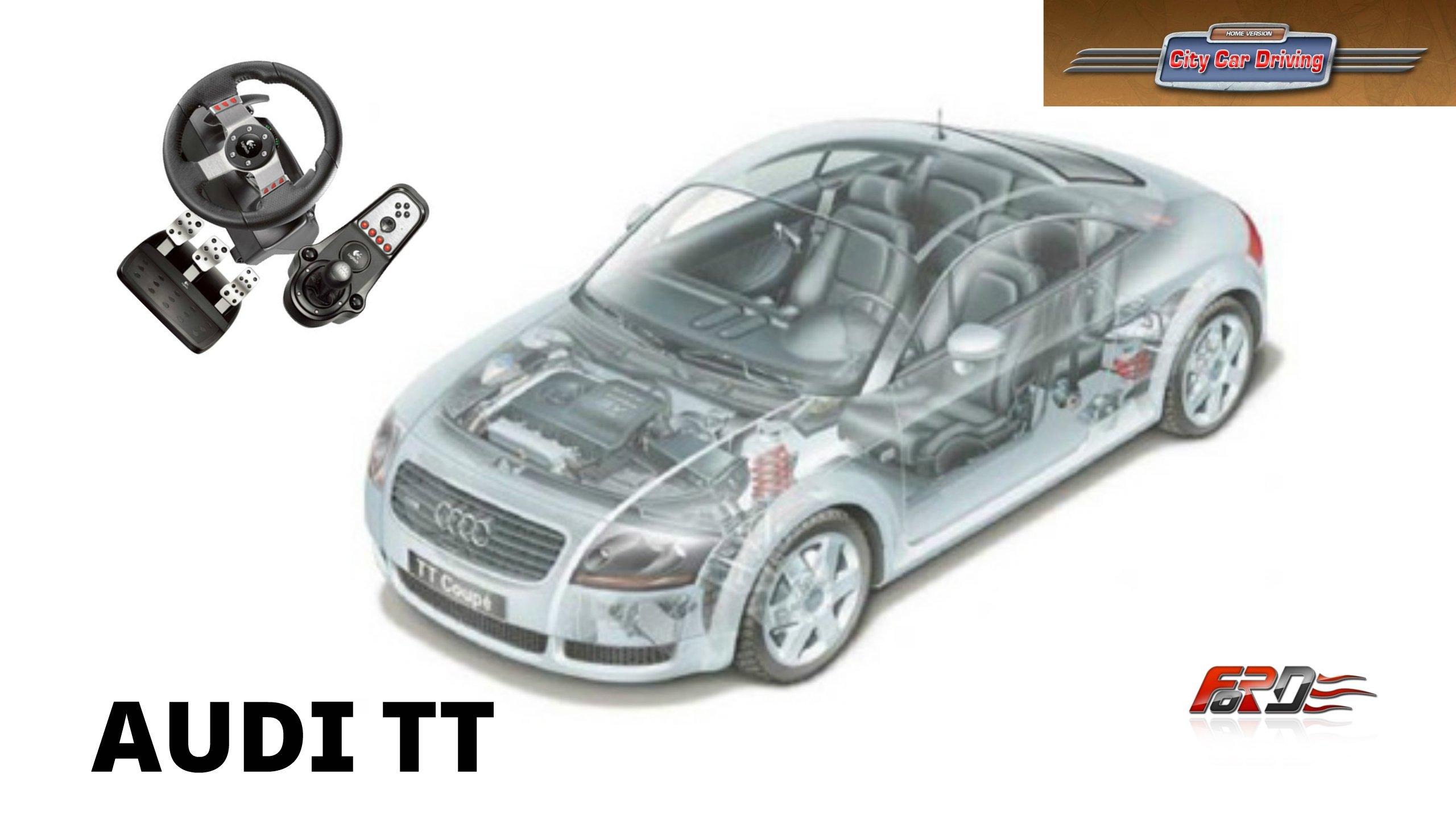 [ AUDI TT ] - тест-драйв, обзор спортивного купе автомобиля для города в City Car Driving  - Изображение 1