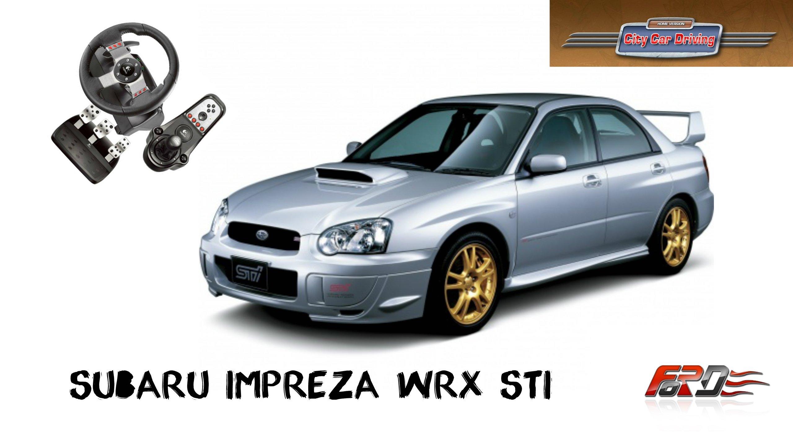 Subaru Impreza WRX STI тест-драйв, обзор, разгон, динамика в City Car Driving - Изображение 1