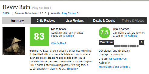 Релизный трейлер сборника Heavy Rain и Beyond: Two Souls для PS4, а также оценки этих игр! - Изображение 5