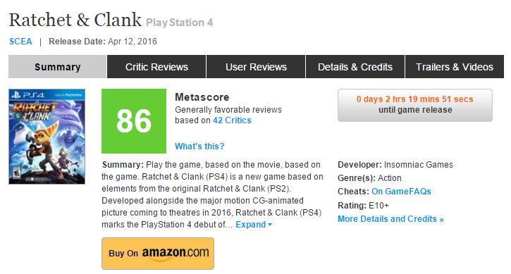 Оценки Ratchet and Clank эксклюзива PS4! Годнота! - Изображение 1
