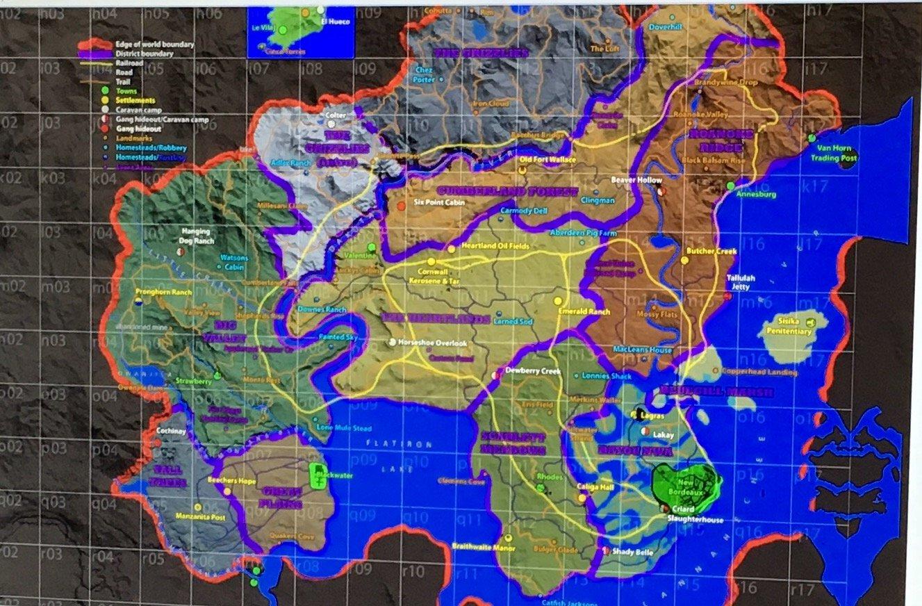 Появились слухи о месте действия новой части Red Dead Redemption, опубликована карта - Изображение 2