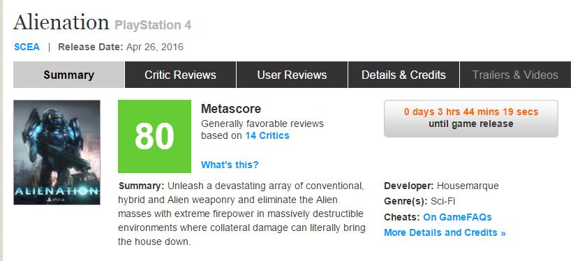 Первые оценки Alienation эксклюзива PS4, игра от разработчика Resogun! - Изображение 1