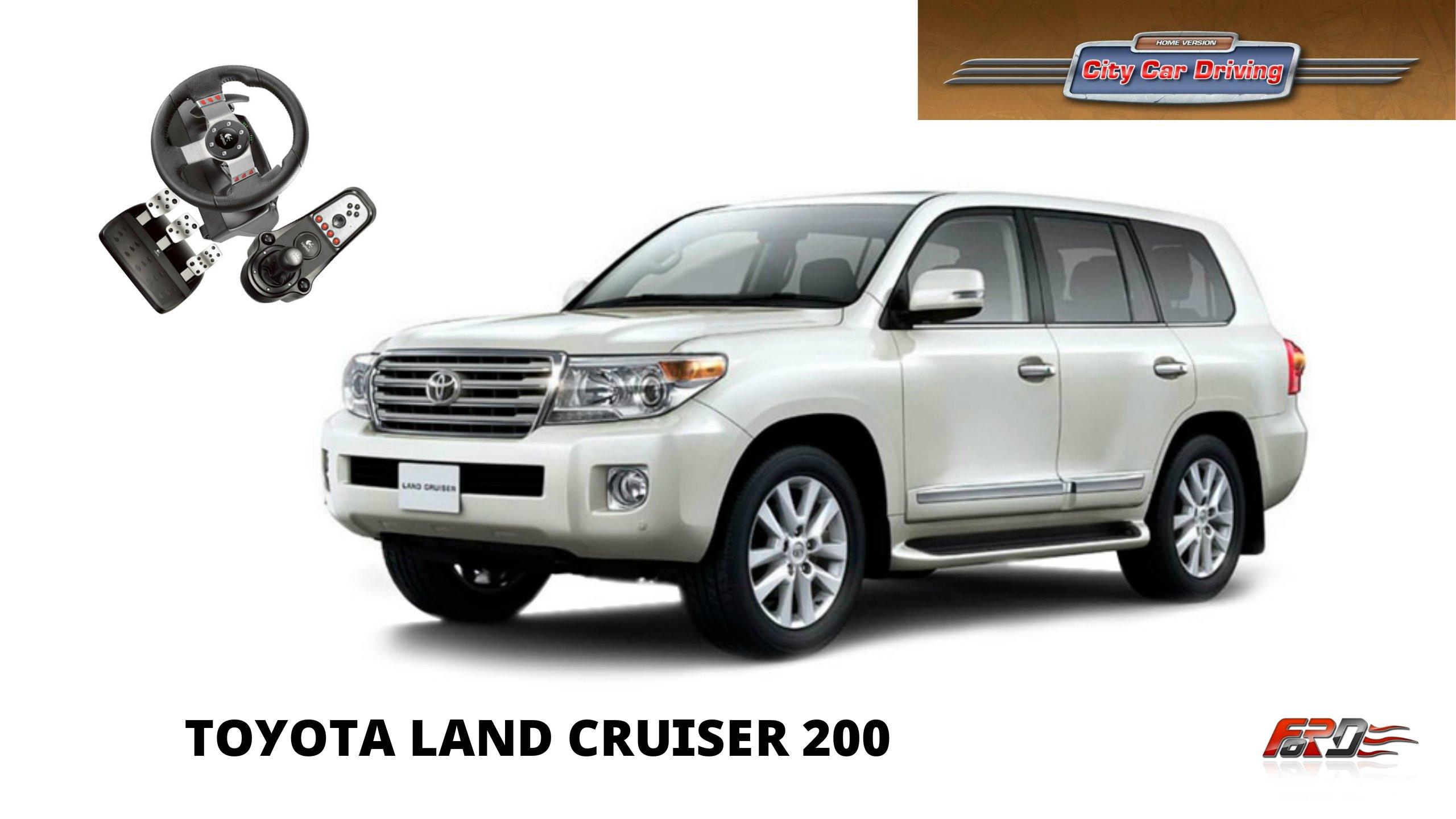 [ Toyota Land Cruiser200 ] - тест-драйв, обзор, off-road люксового внедорожника в City Car Driving - Изображение 1