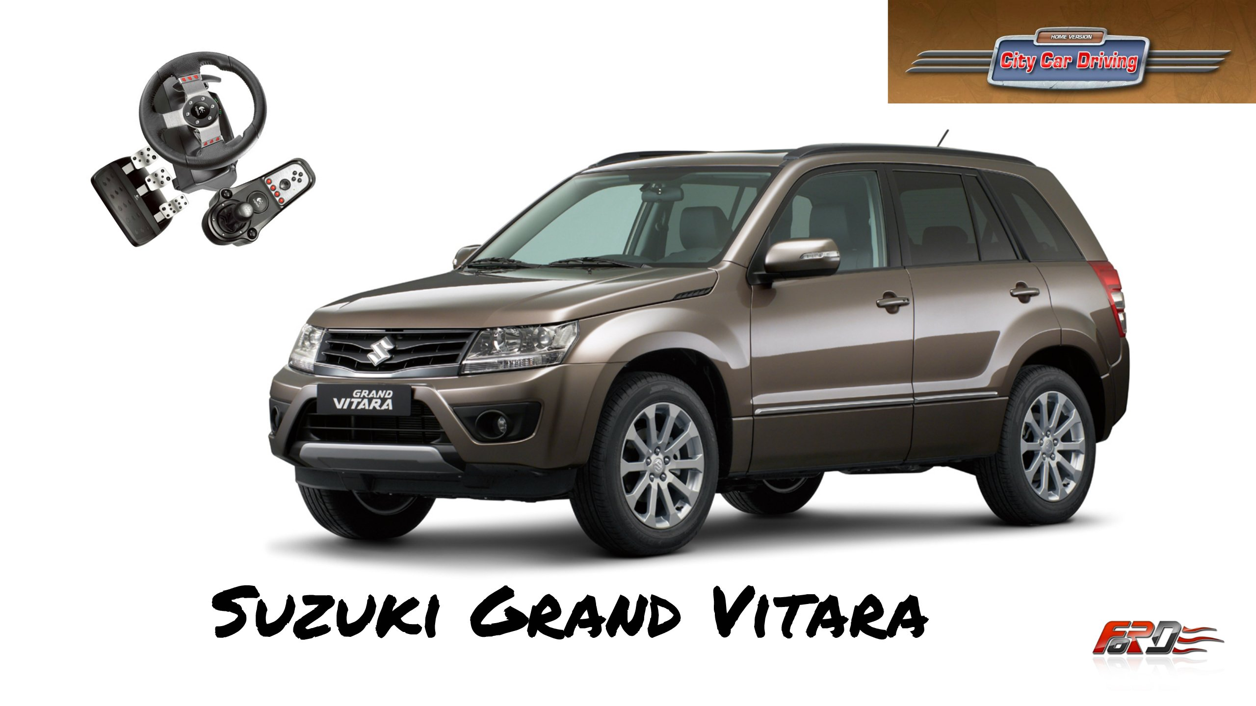 Suzuki Grand Vitara - тест-драйв, обзор японского паркетника на бездорожье в City Car Driving 1.5. - Изображение 1