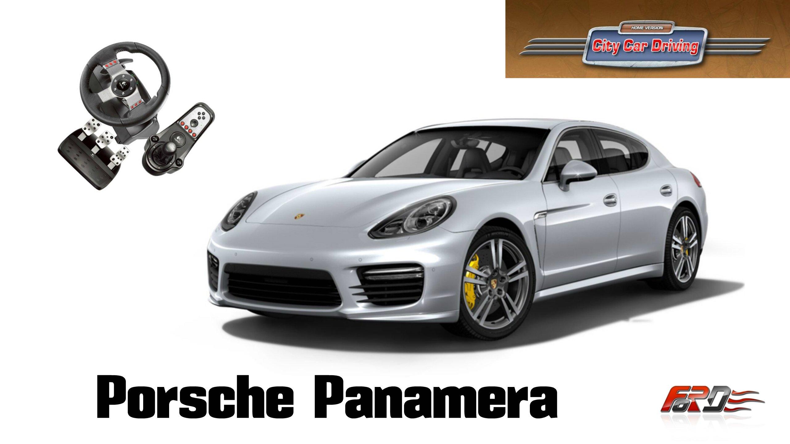 Porsche Panamera - тест-драйв, обзор, динамика и разгон премиум авто в City Car Driving. - Изображение 1