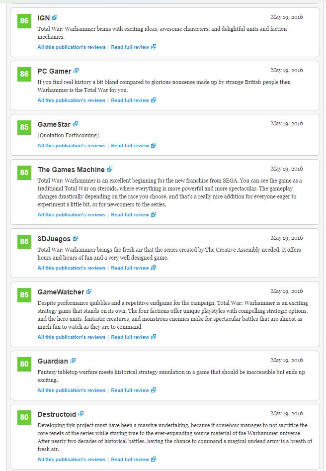 Первые оценки Total War : Warhammer!  - Изображение 3