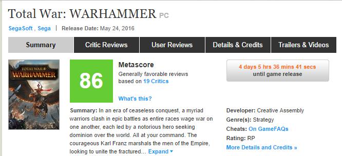 Первые оценки Total War : Warhammer!  - Изображение 1