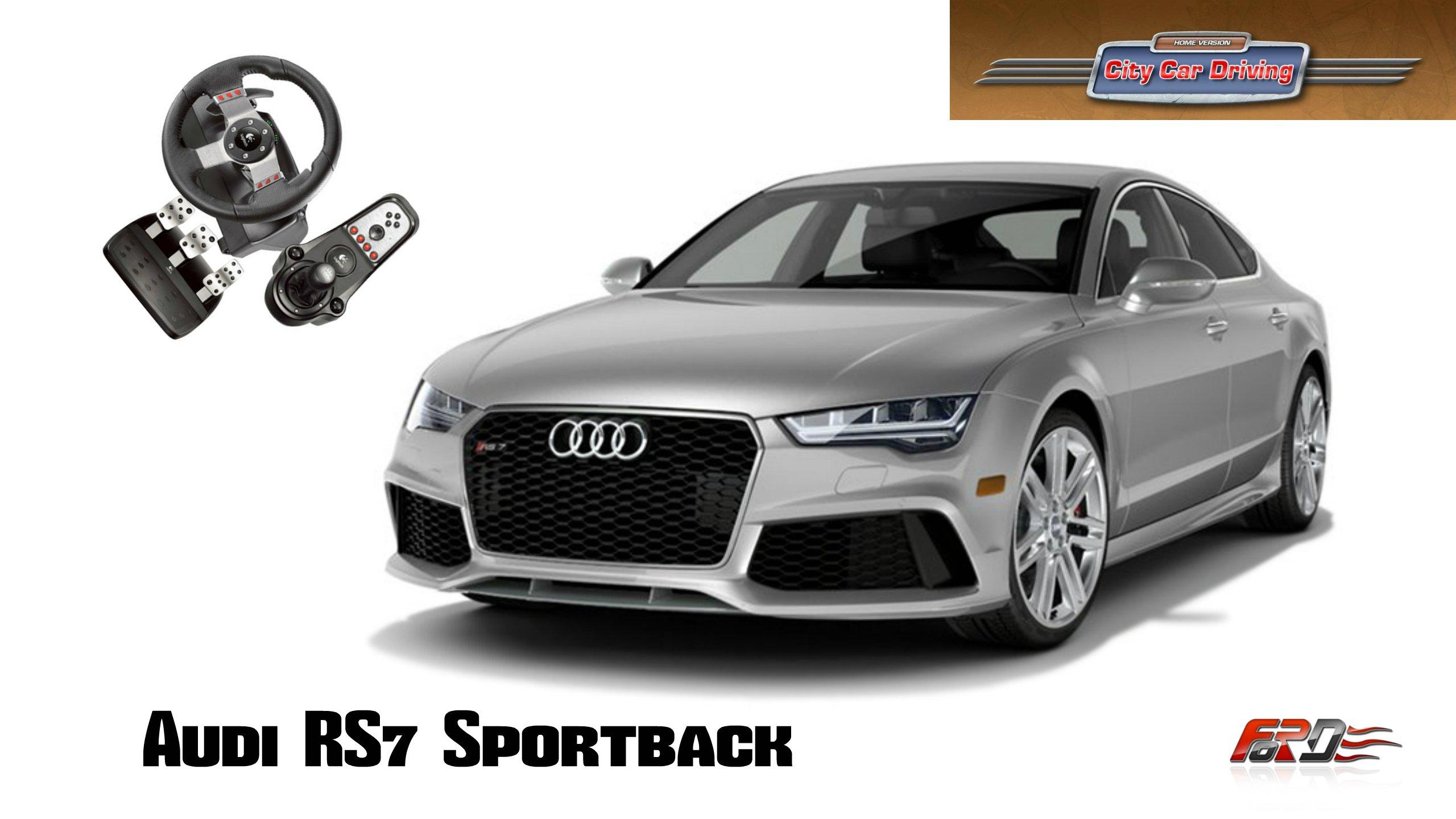 Audi RS7 Sportback (A7) - тест-драйв, обзор, разгон и максимальная скорость в City Car Driving - Изображение 1