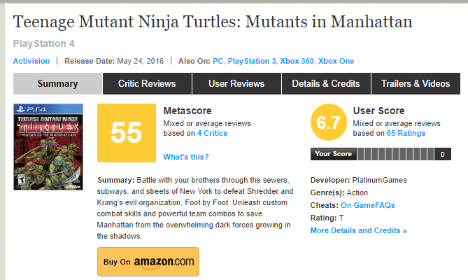Первые оценки TMNT: Mutants in Manhattan - Изображение 1