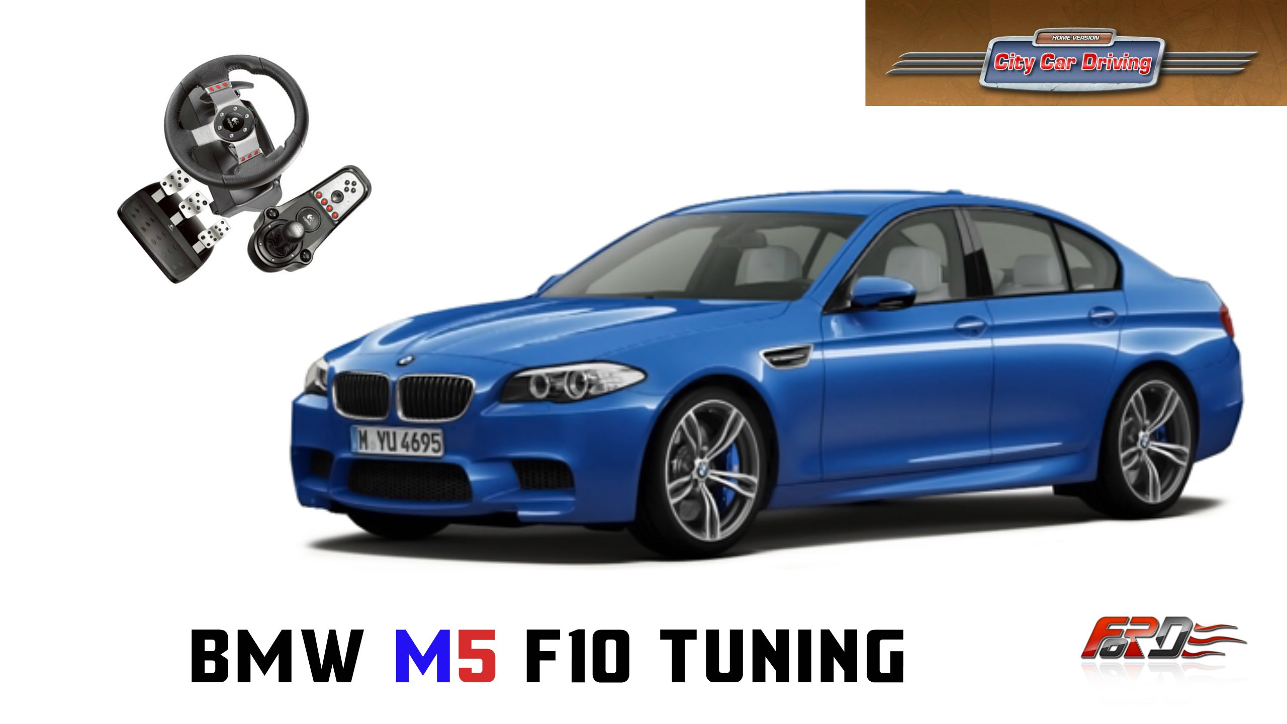 BMW M5 F10 Vossen tuning - тест-драйв, обзор самой мощной BMW M5 в City Car Driving - Изображение 1