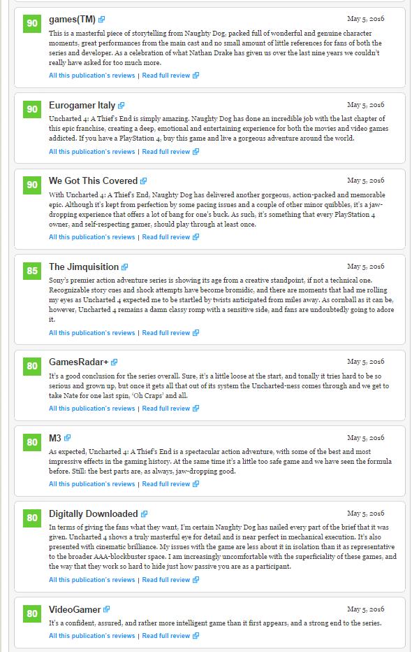 Оценки Uncharted 4! Легендарное окончание серии!  - Изображение 8