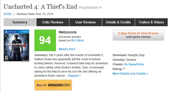Оценки Uncharted 4! Легендарное окончание серии!  - Изображение 1