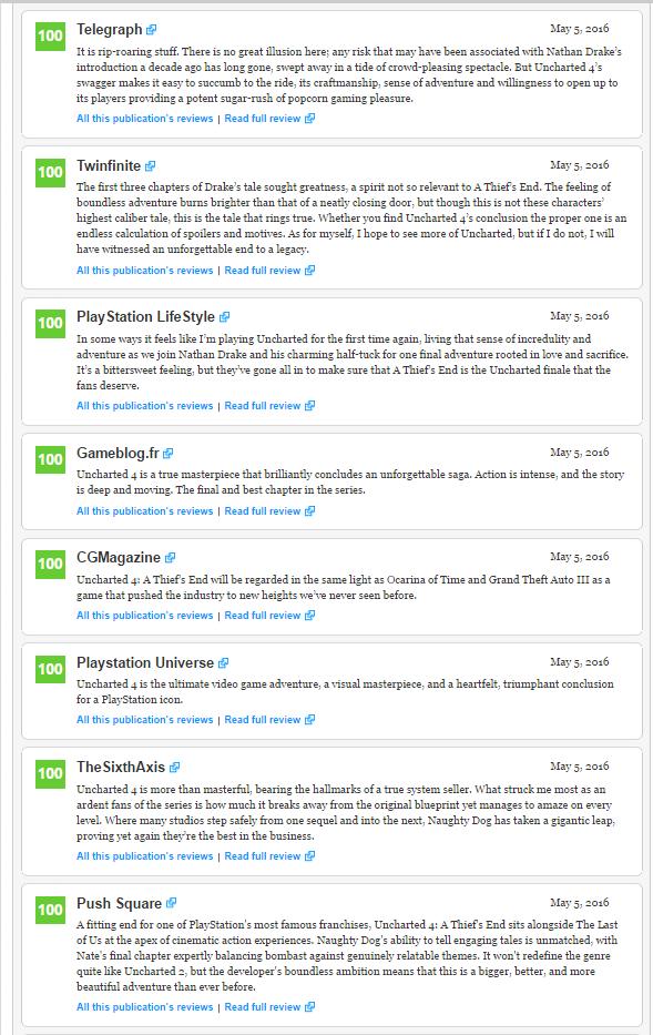Оценки Uncharted 4! Легендарное окончание серии!  - Изображение 3