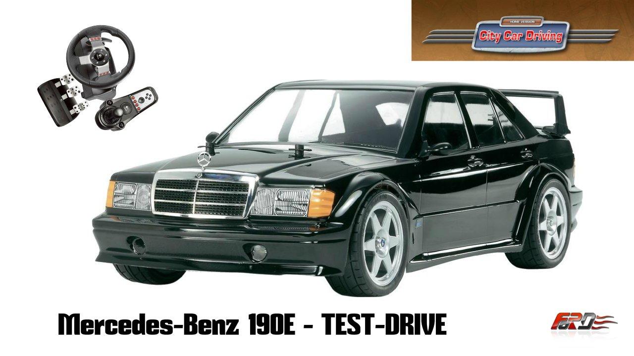 Mercedes-Benz 190E(W201) - тест-драйв, обзор, разгон, динамика City Car Driving 1.5.1 - Изображение 1