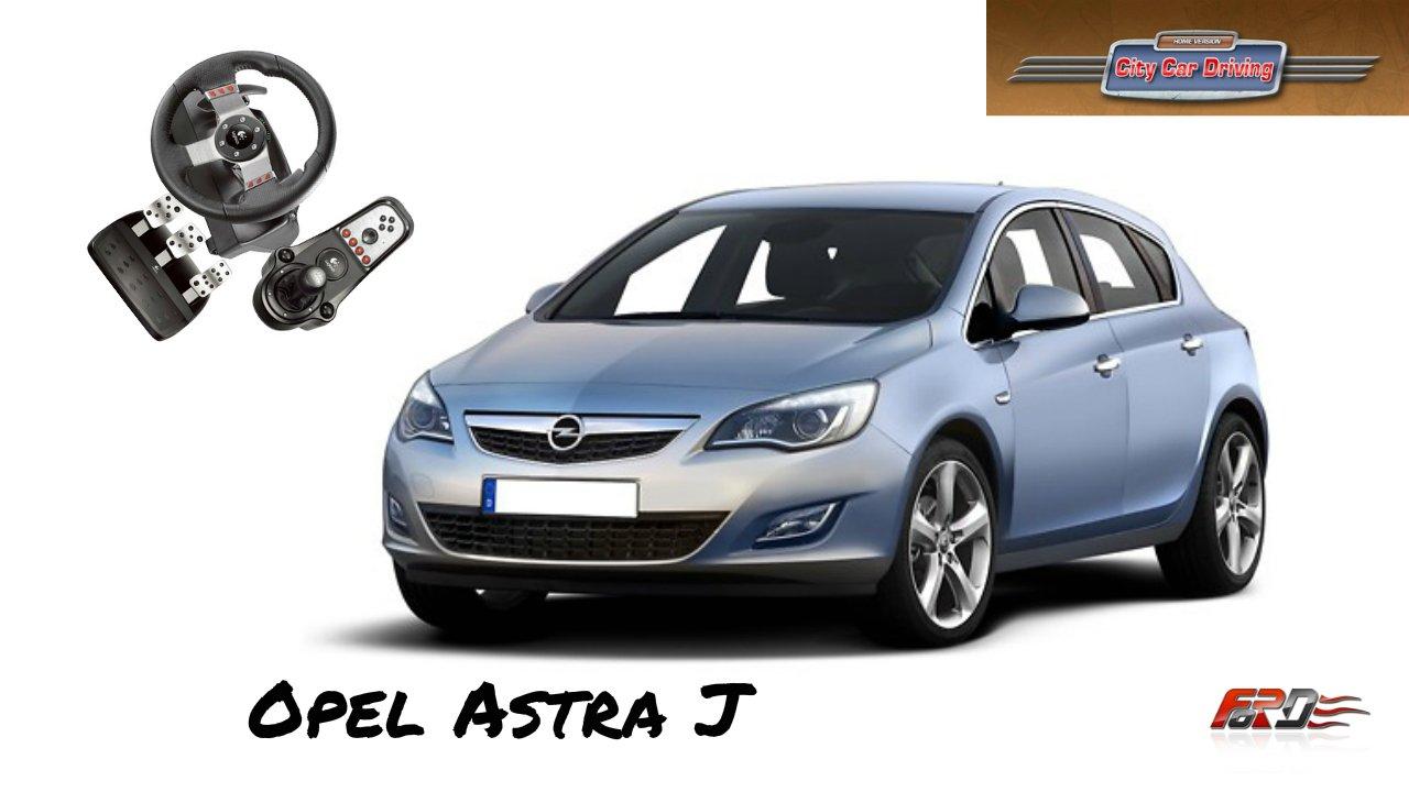 Opel Astra J - тест-драйв, обзор автомобиль C класса City Car Driving за рулем Logitech G27 - Изображение 1
