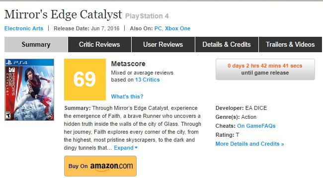Первые оценки Mirror`s Edge Catalyst! - Изображение 1