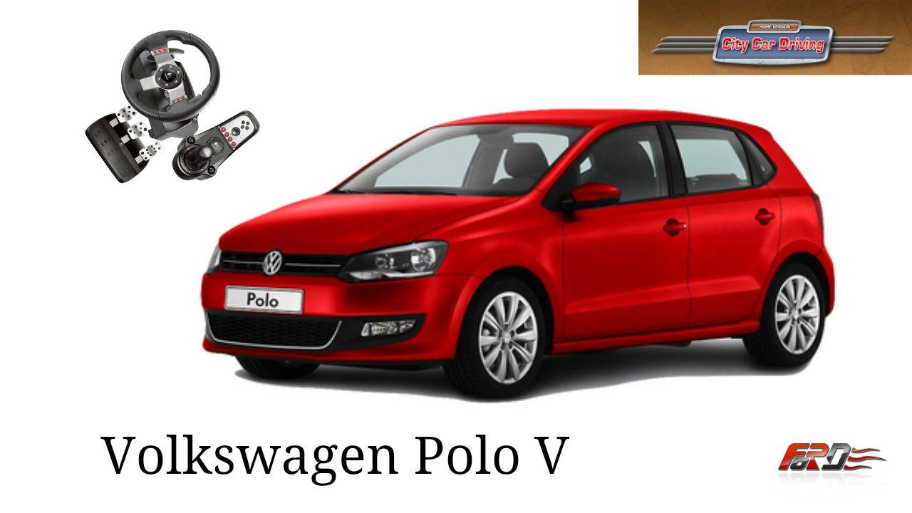 Volkswagen Polo V тест-драйв, обзор, динамика, бюджетный автомобиль City Car Driving 1.5.1 - Изображение 1