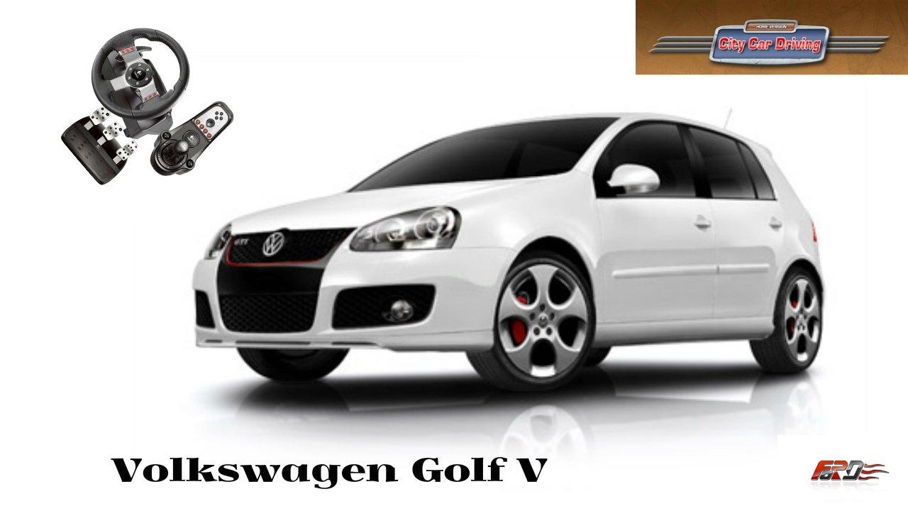 Volkswagen Golf V тест-драйв, обзор, разгон до 100, городской автомобиль City Car Driving 1.5.1 - Изображение 1