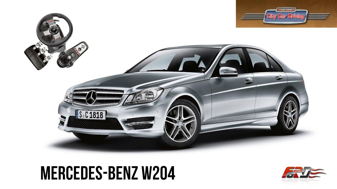 Mercedes-Benz W204 C180 - тест-драйв, обзор, AMG обвес City Car Driving 1.5.1 - Изображение 1